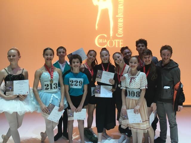 Nos élèves au concours international de la Côte 2019.