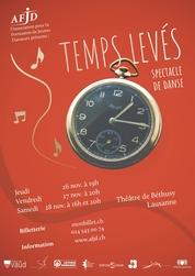 Affiche du spectacle «Temps Levés»